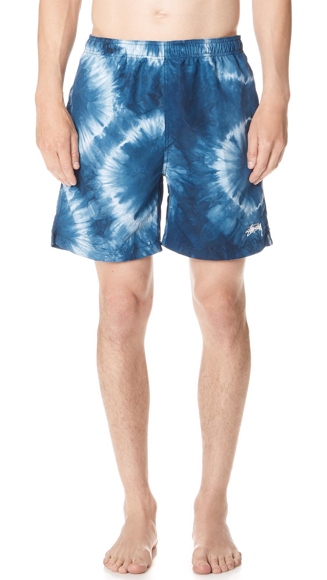 3879e86f017a8 Lyst - Stussy Tie Dye Swim Trunks in Blue for Men