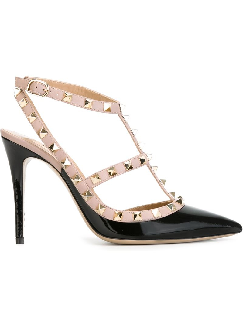 valentino rockstud pumps in black lyst. Black Bedroom Furniture Sets. Home Design Ideas