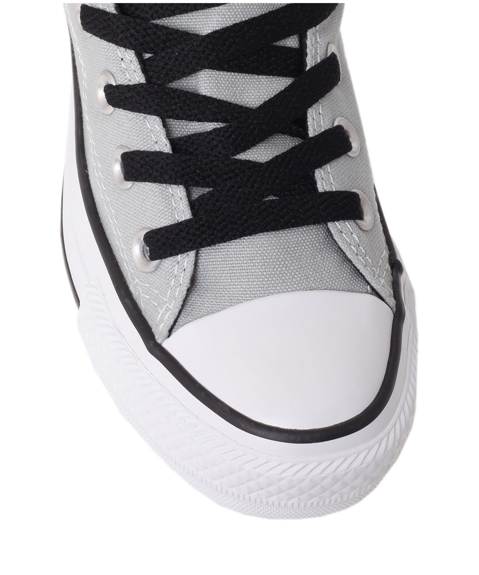 b7cf92281abd Lyst - Converse Grey Chuck Taylor Side Zip Hi Top Trainers .