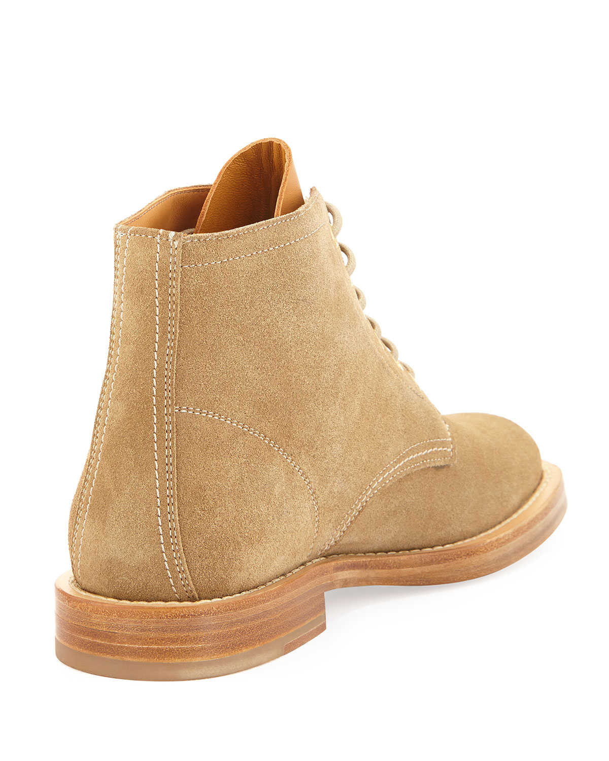 fb022e572b19 Lyst - Saint Laurent Rangers Suede Laceup Boot Sand in Natural