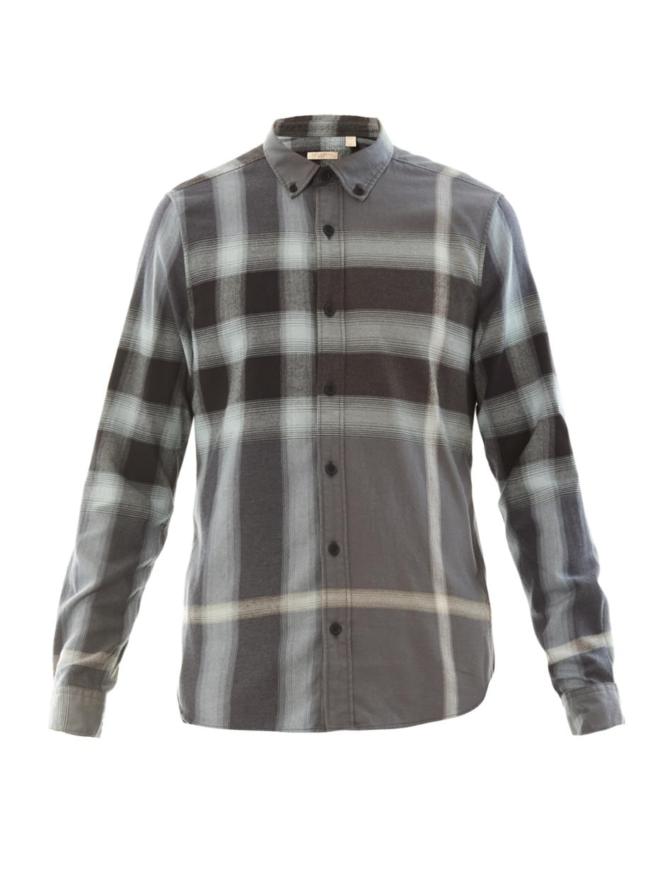 553846f21482 Lyst - Burberry Brit Fred Flannel Plaid Shirt in Gray for Men