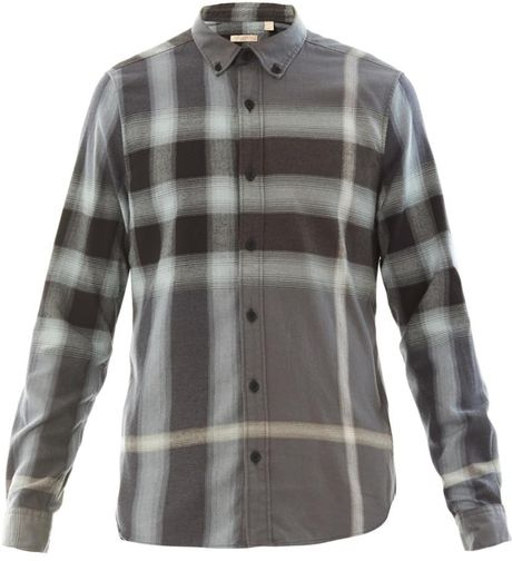 ad525ec0c75f Burberry Brit Fred Flannel Plaid Shirt in Gray for Men (GREY) | Lyst ...