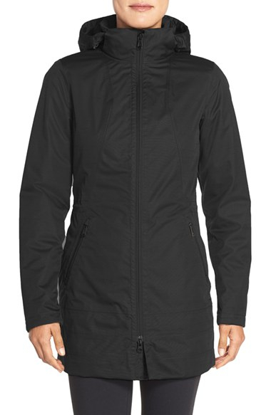 The North Face Ancha Hooded Waterproof Parka In Black