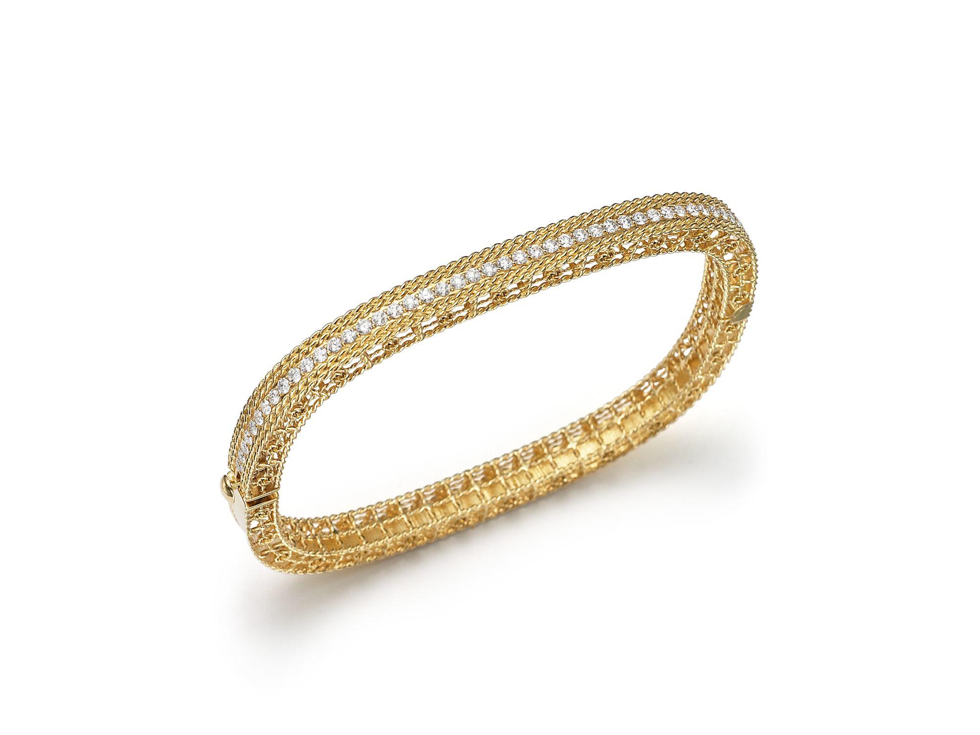 Roberto Coin Hinged 18K Gold Bangle Bracelet Rb5ryeZjg
