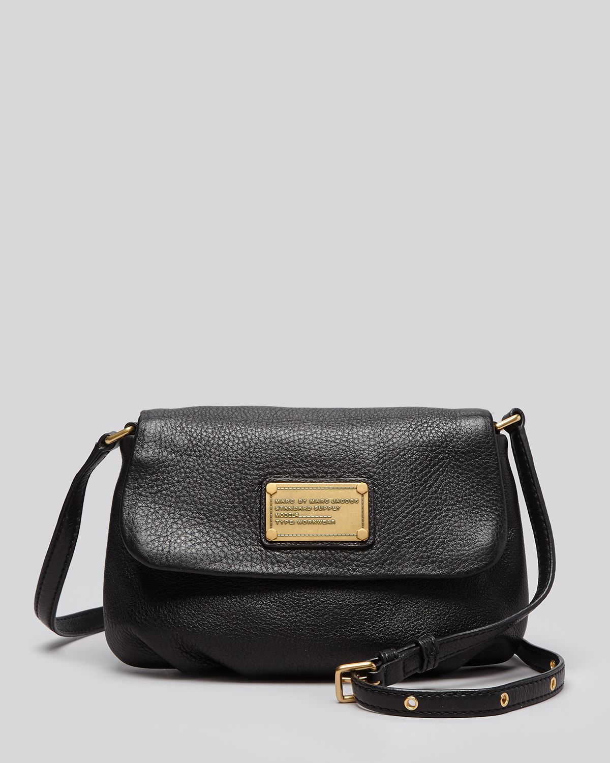 lyst marc by marc jacobs crossbody classic q flap percy in black. Black Bedroom Furniture Sets. Home Design Ideas