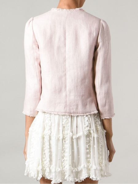 Red Valentino Bow Detail Jacket In Pink Pink Amp Purple Lyst