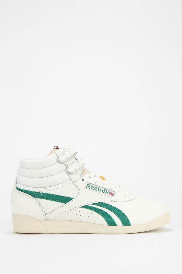 e037e543d249a Reebok Freestyle Vintage High-Top Sneaker in Green - Lyst