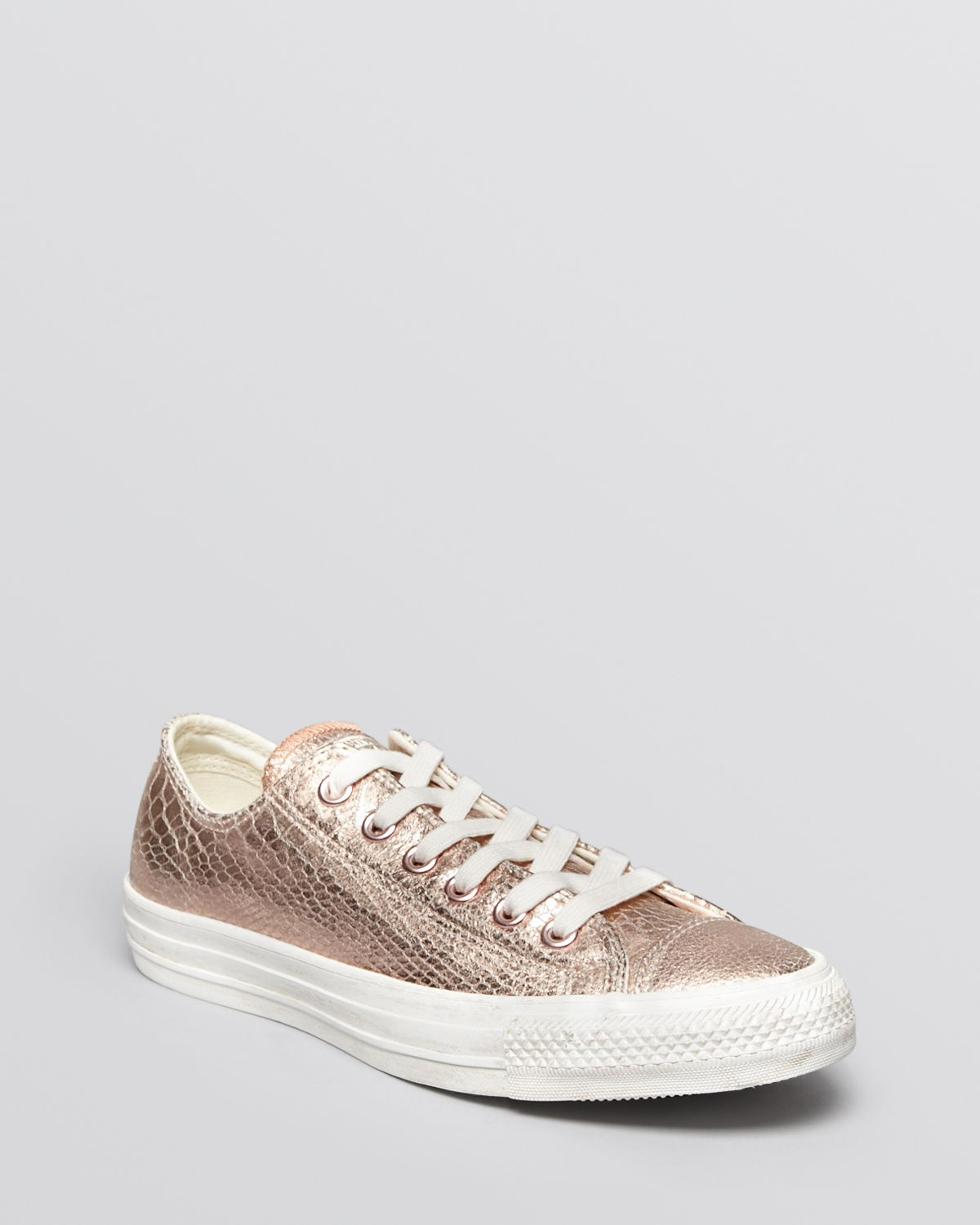 converse lace up sneakers chuck taylor all star in metallic lyst. Black Bedroom Furniture Sets. Home Design Ideas