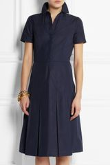 Tory Burch Carolina Cotton-poplin Dress - Lyst