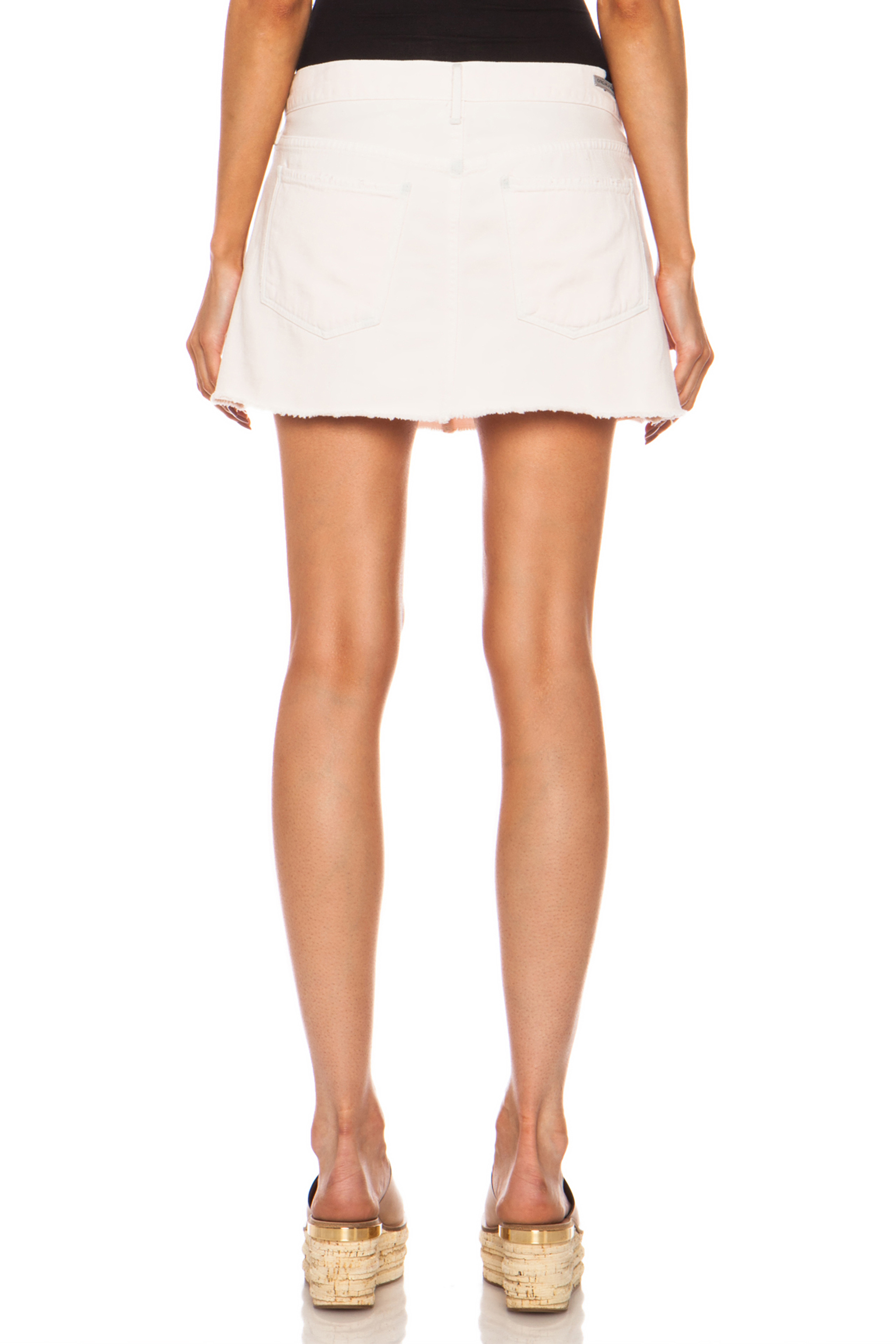 Citizens of humanity Daria Cotton Mini Skirt in Pink | Lyst