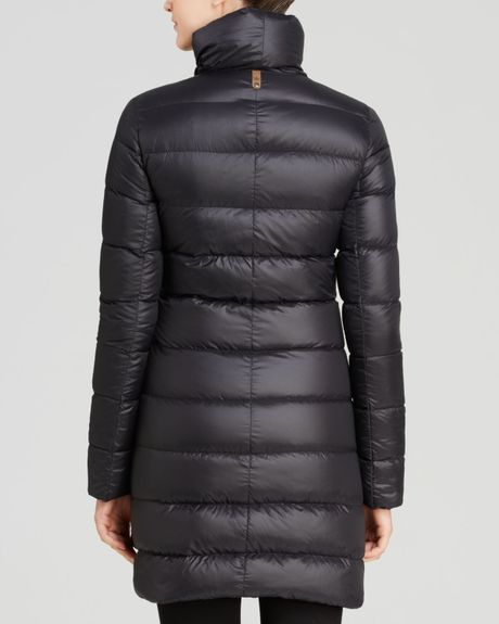 Black Bubble Coat Down Coat in Black