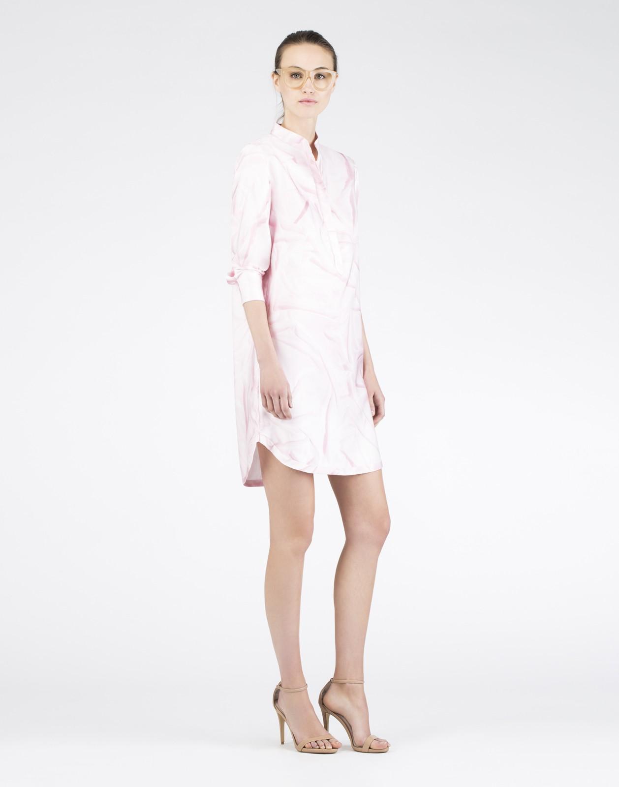 lyst cynthia rowley wrinkle print shirtdress in pink