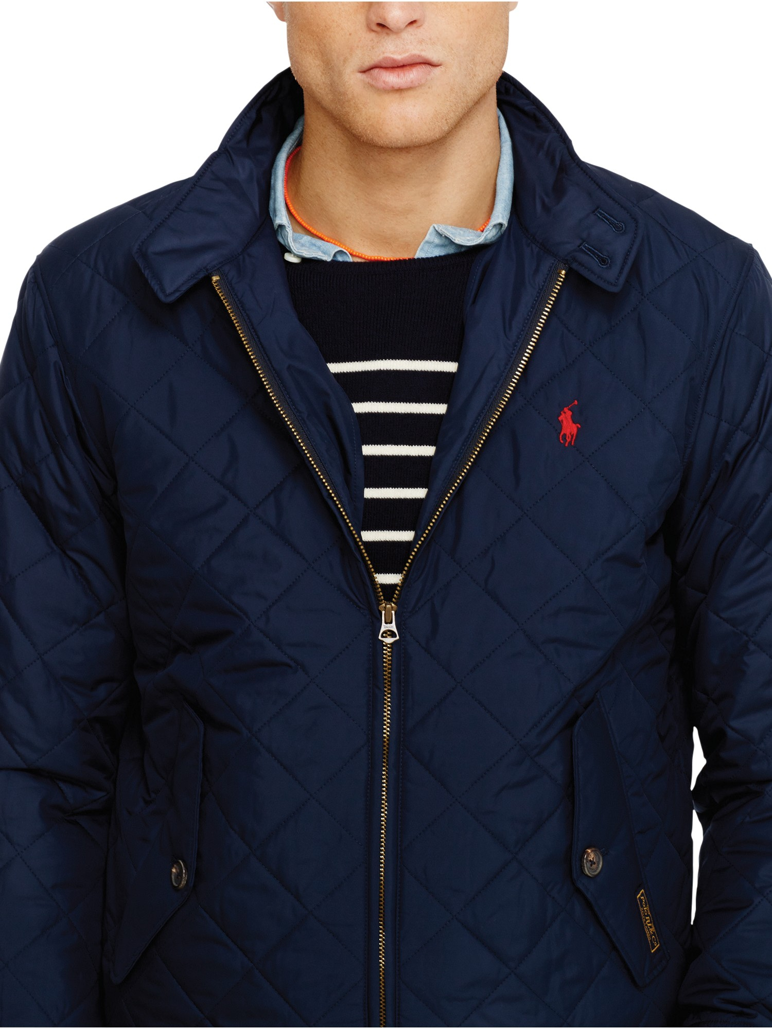 pink pony polo quilted barracuda jacket in blue for men lyst. Black Bedroom Furniture Sets. Home Design Ideas