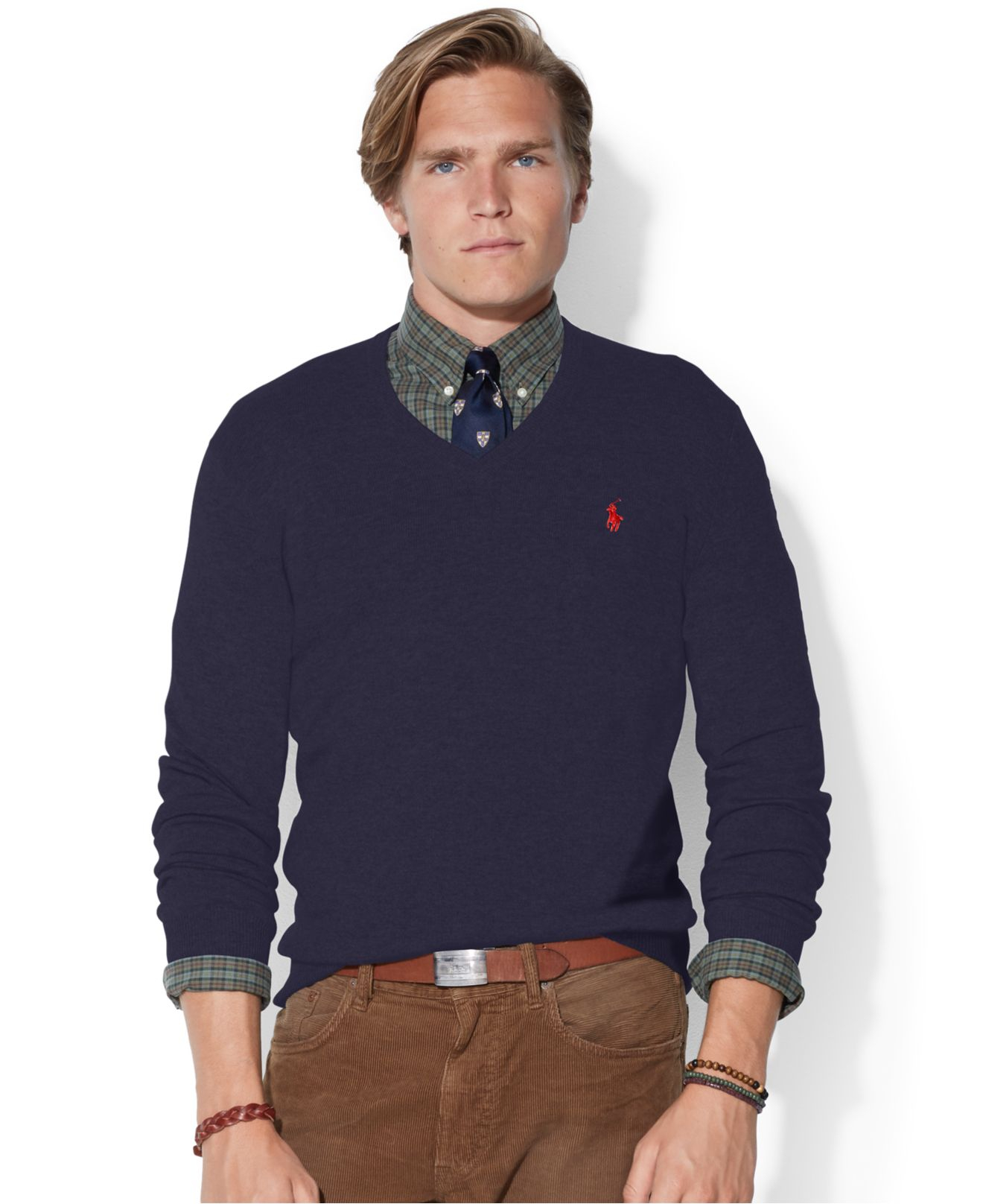 30ca6197d Polo Ralph Lauren Loryelle Merino Wool V-Neck Sweater in Blue for ...
