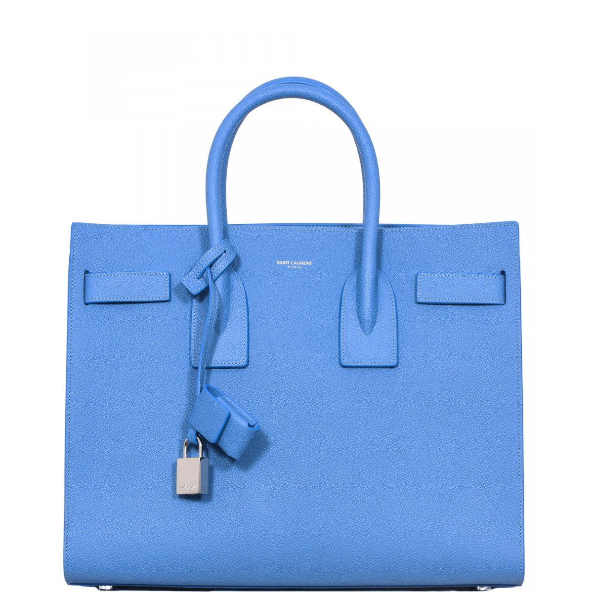 yves saint laurent bags prices - classic small sac de jour bag in royal blue leather