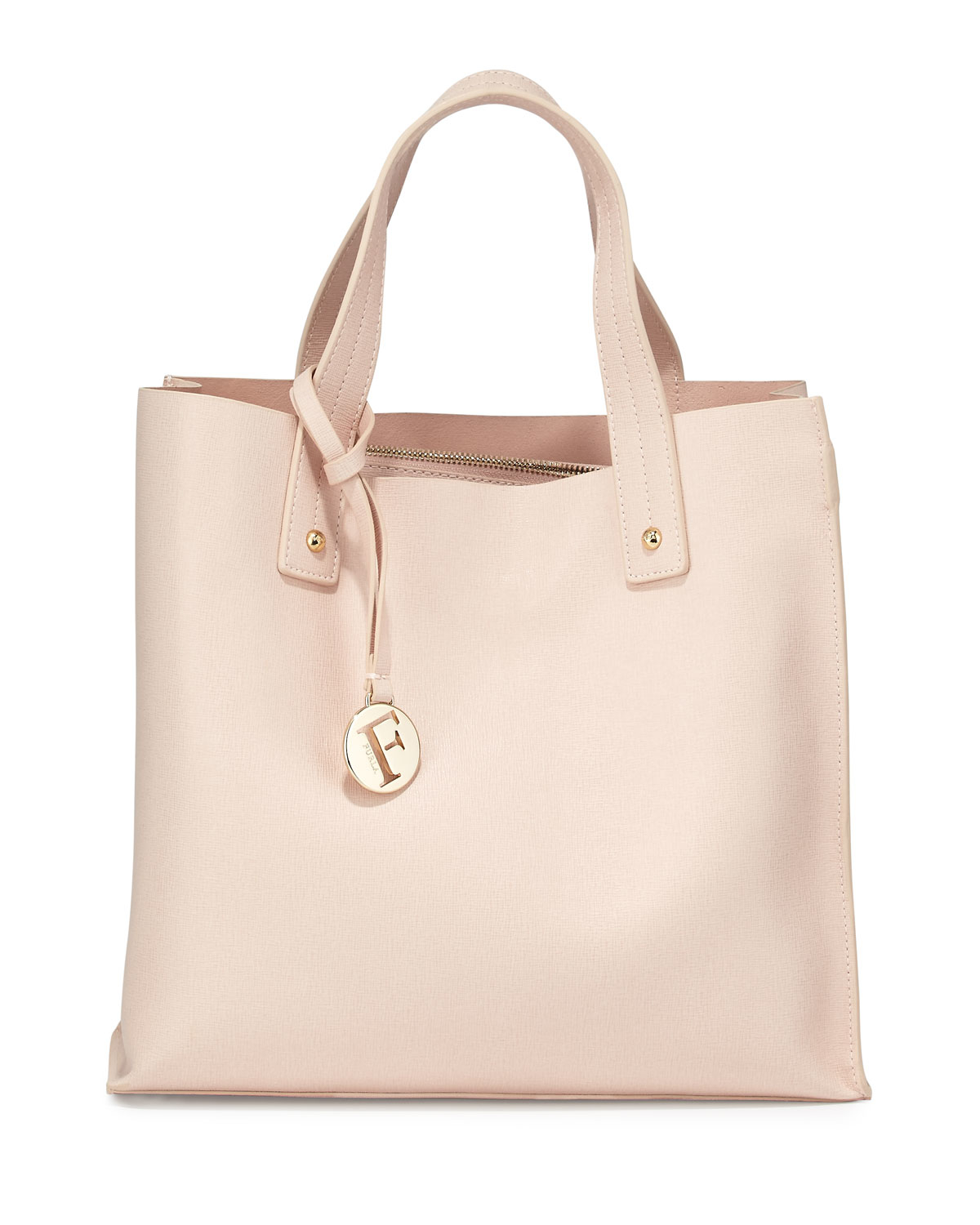 Furla Musa Medium Leather Tote Bag in Pink | Lyst