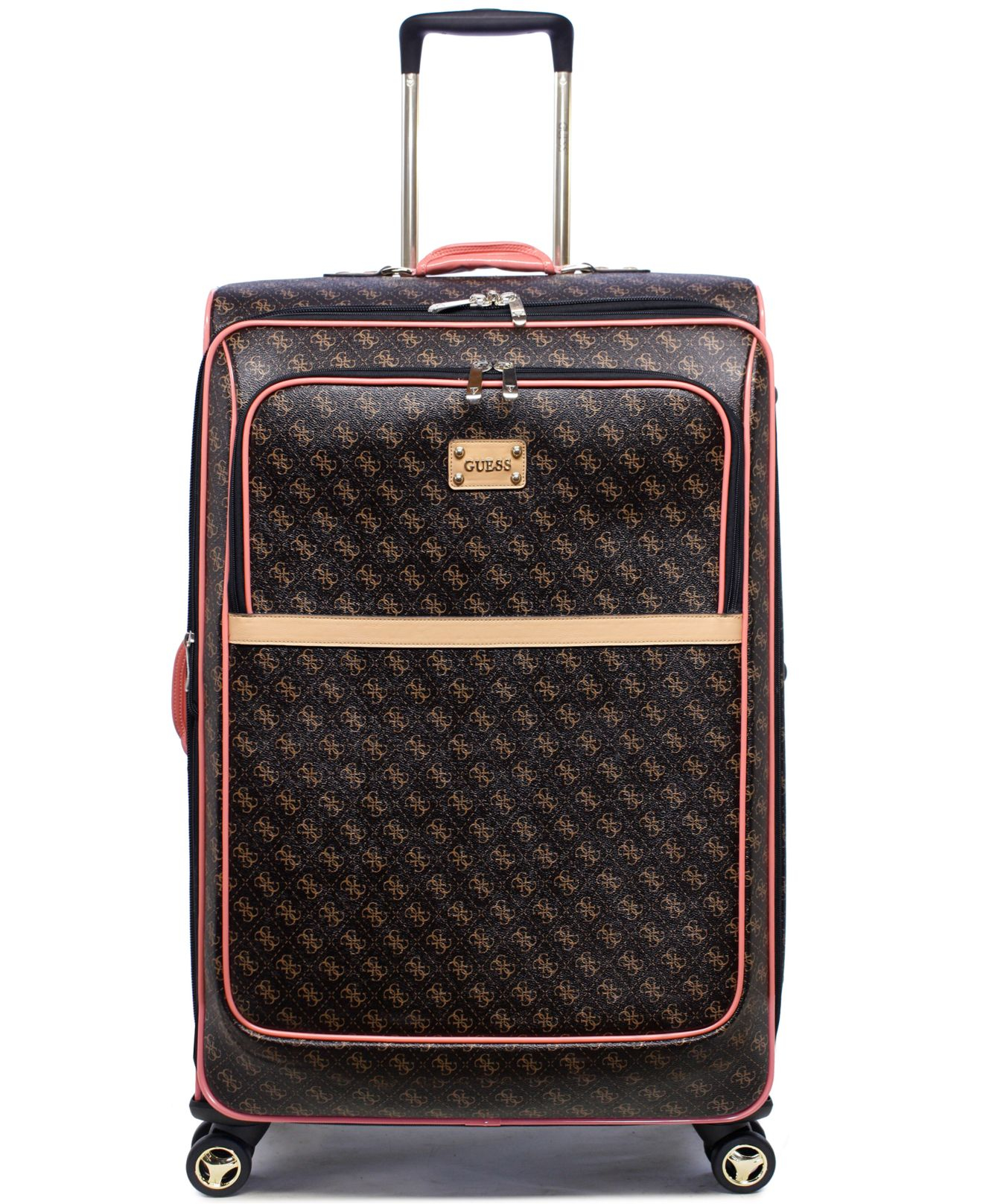 Guess Closeout Logo Affair 29 Quot Spinner Suitcase In Brown