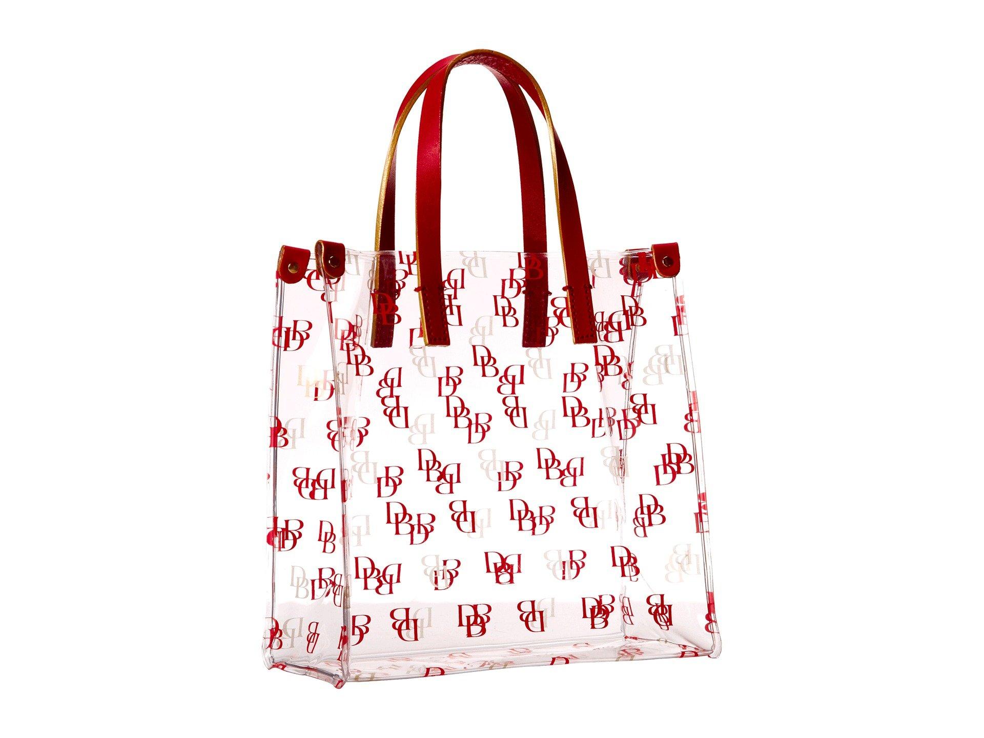 Lyst Dooney Amp Bourke Clear Shopper Bag In Red