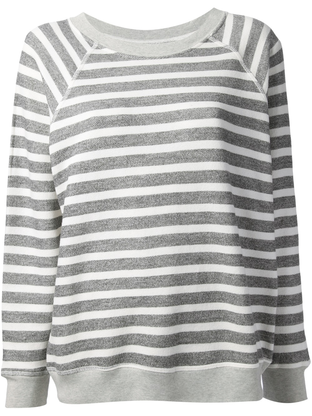c9852e1e3 Lyst - Bliss and Mischief Striped Sweatshirt in Gray
