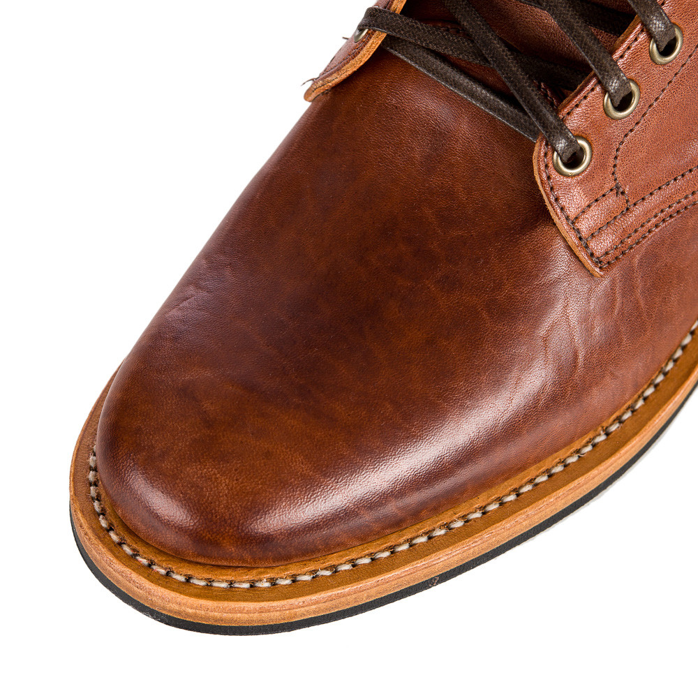 Viberg Service Boot In Italian Tan Horsehide In Brown For