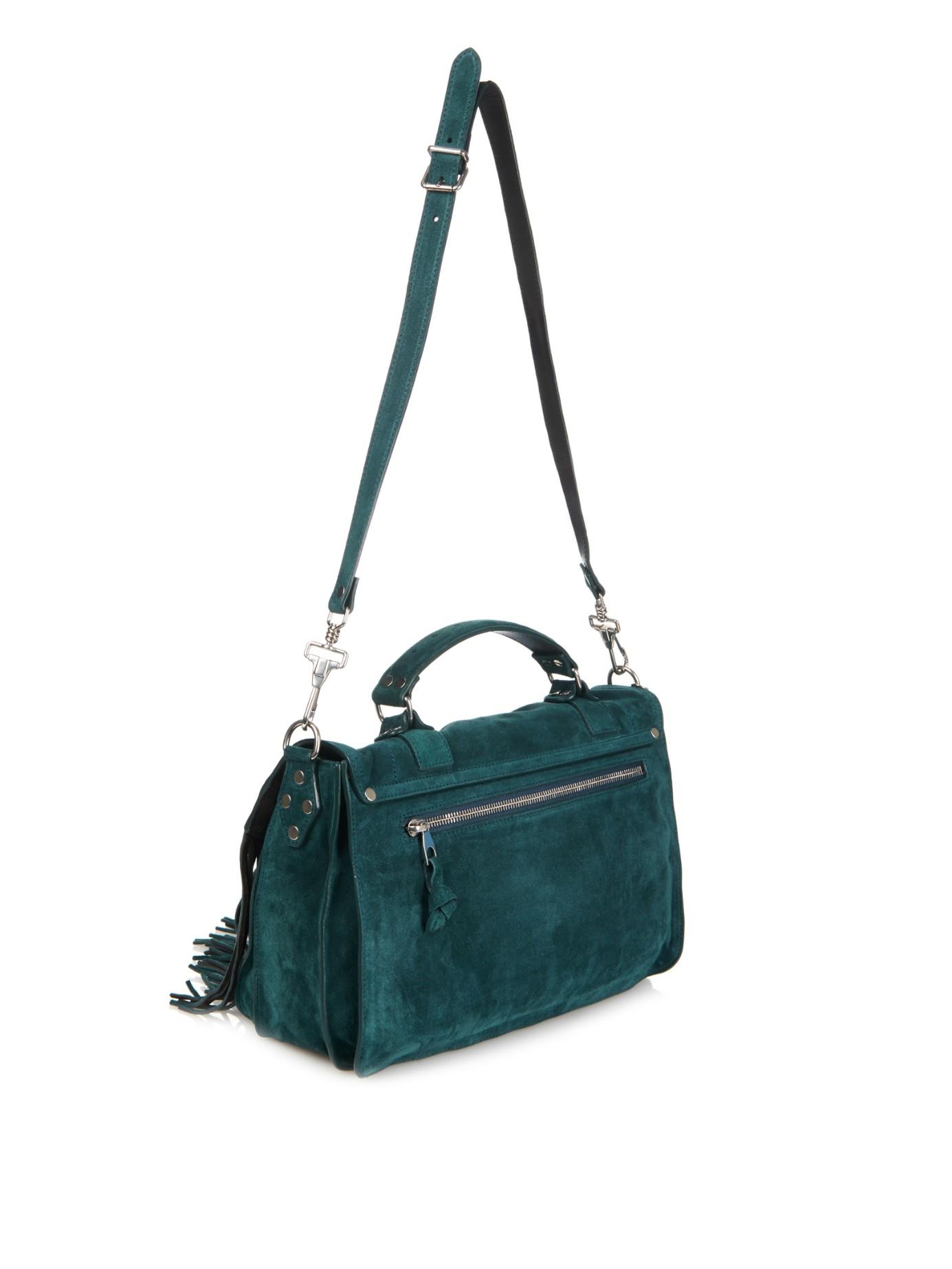 Proenza schouler Ps1 Medium Fringe Suede Shoulder Bag in Blue | Lyst