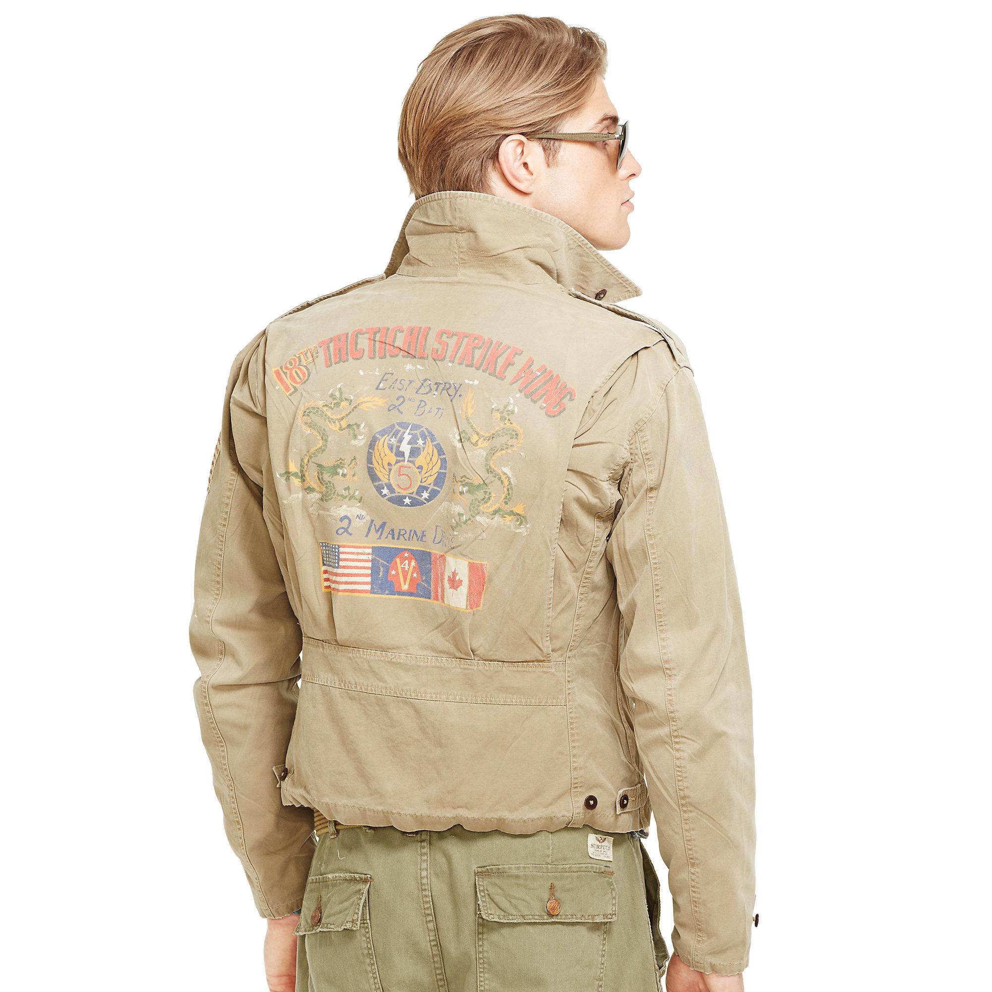 becdbd471 ... czech lyst polo ralph lauren canvas m41 jacket in natural for men 5314f  c1b53