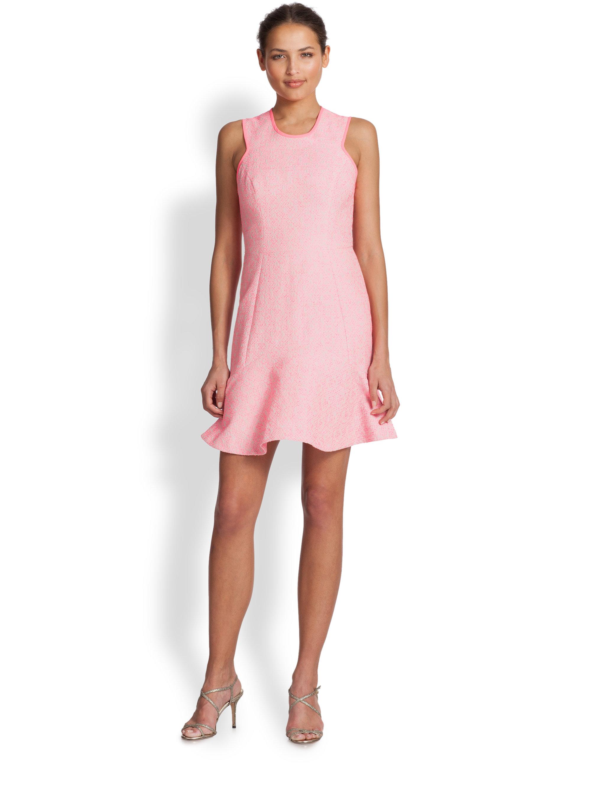 Shoshanna Jacquard Eden Dress in Pink   Lyst