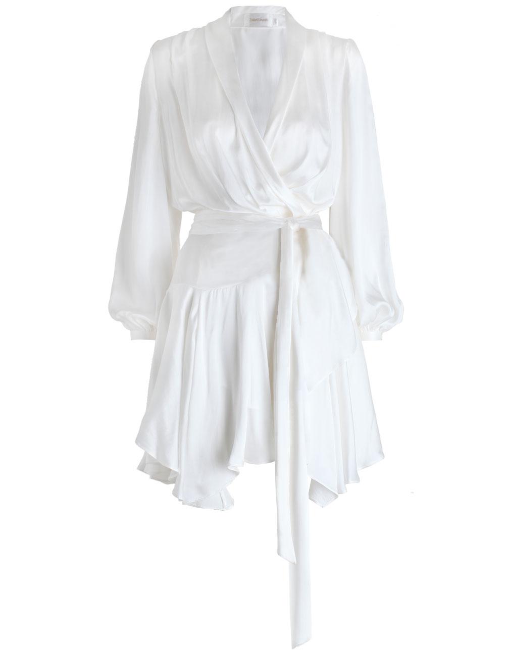 Lyst Zimmermann Empire Sueded Robe Dress In White