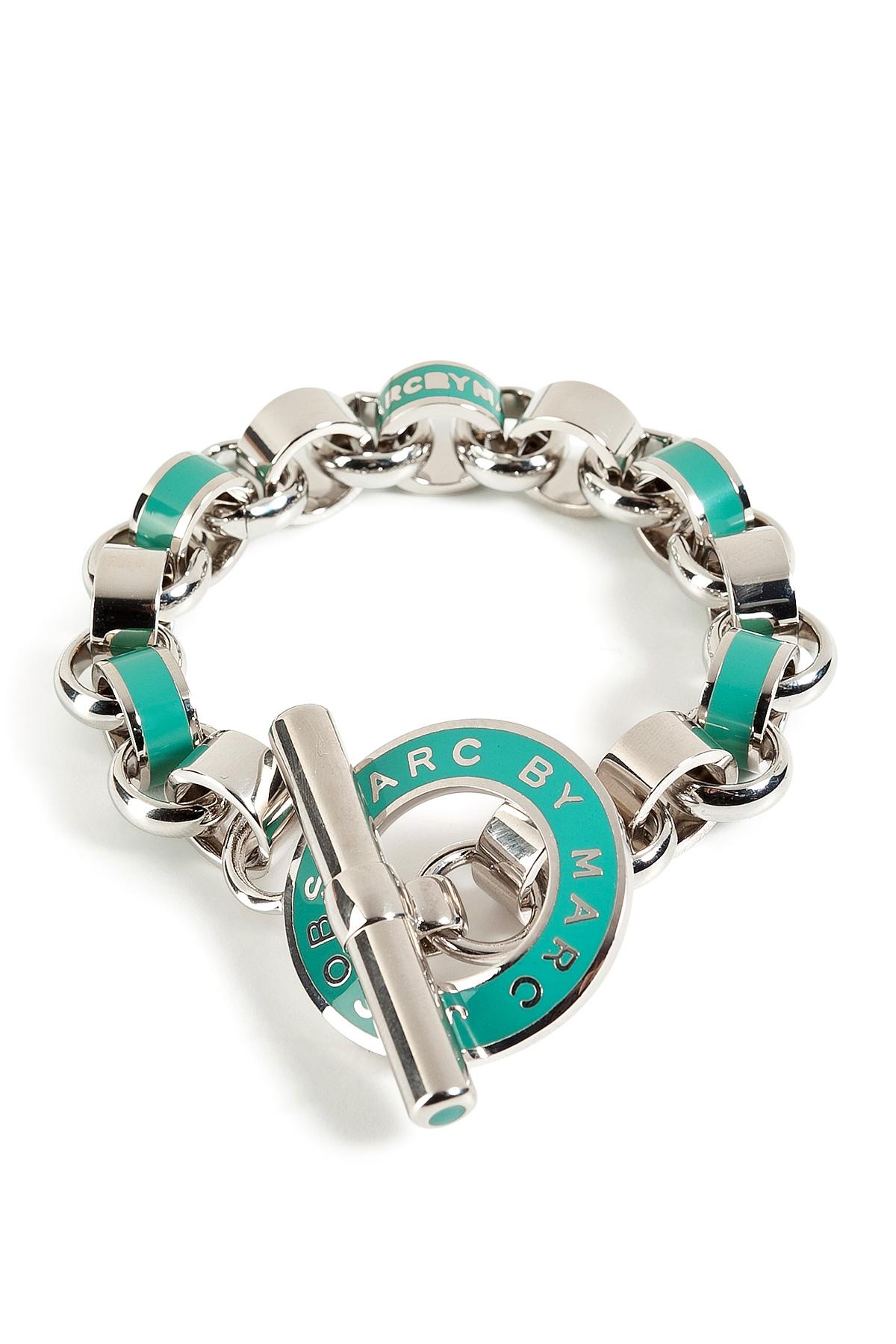 marc by marc enamel toggle bracelet in aqua lagoon