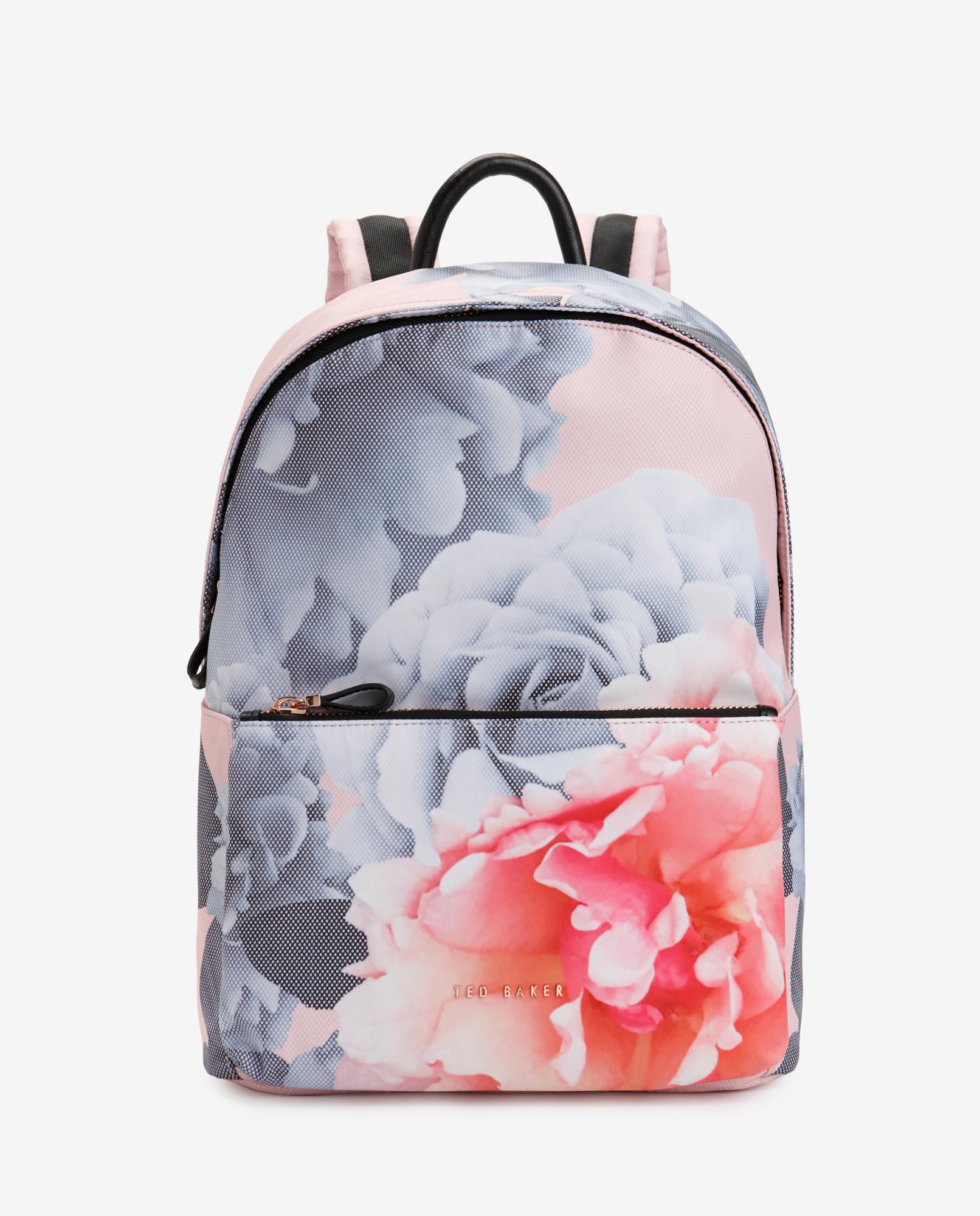 ted baker monorose print backpack lyst. Black Bedroom Furniture Sets. Home Design Ideas