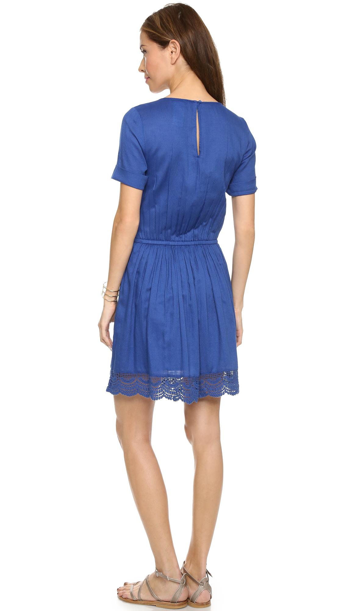 lyst paul joe timbales dress blue in blue. Black Bedroom Furniture Sets. Home Design Ideas