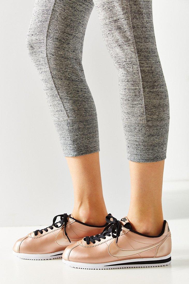 bc646a08f71f9f Lyst - Nike Women s Classic Cortez Leather Sneaker in Metallic