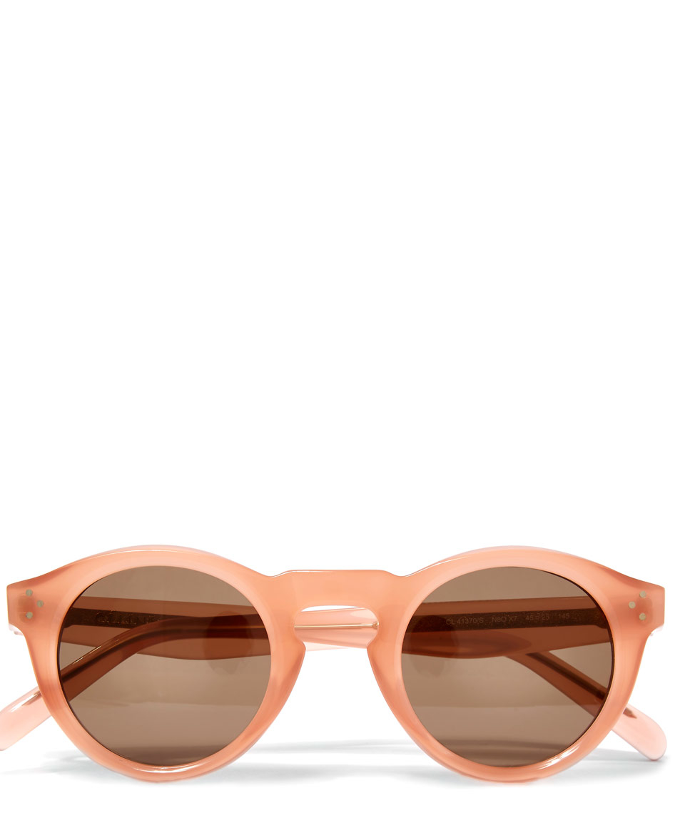 Keyhole Sunglasses  céline peach round keyhole sunglasses in pink lyst