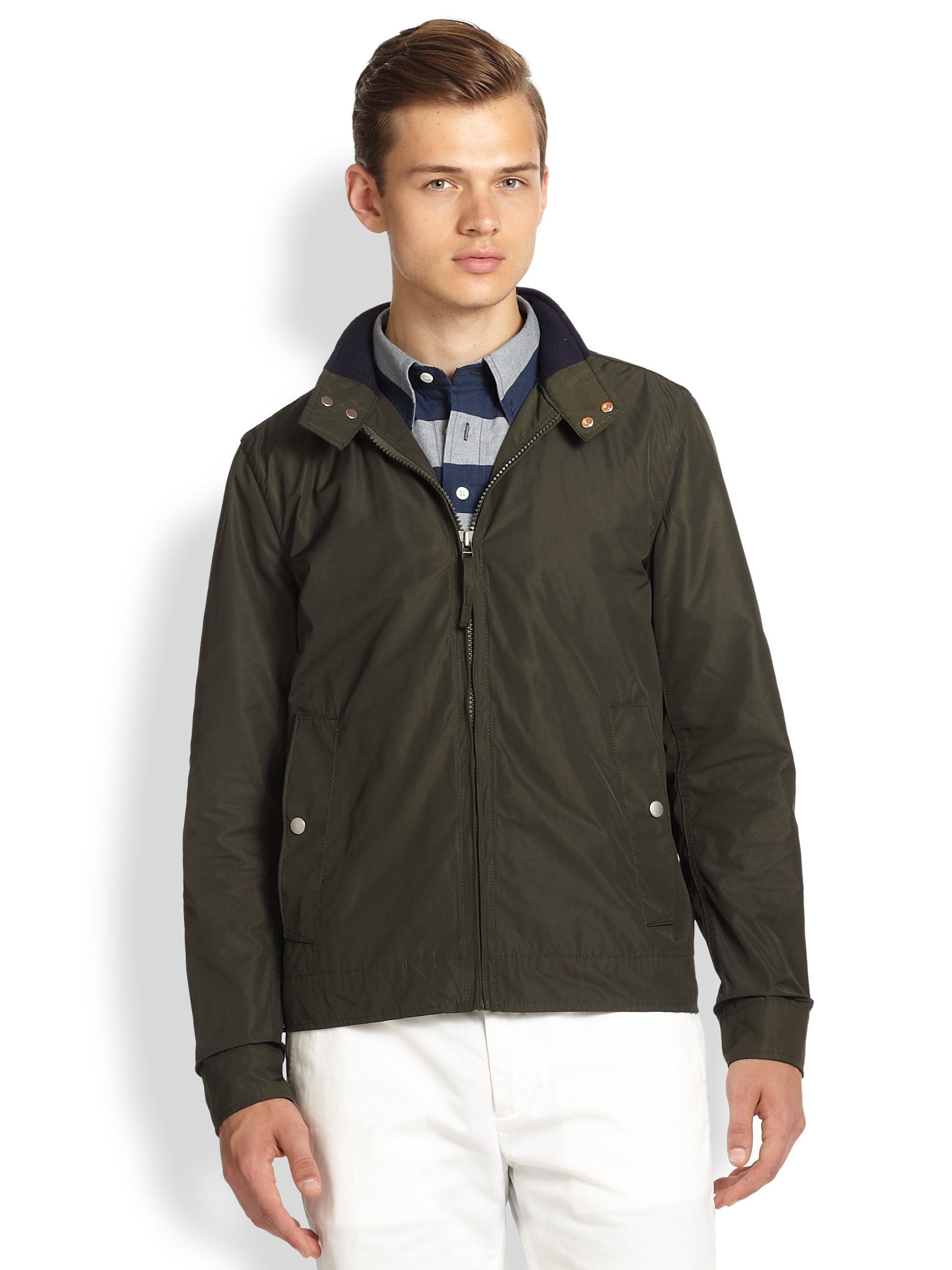 Lyst Jack Spade Peyton Shell Jacket In Green For Men