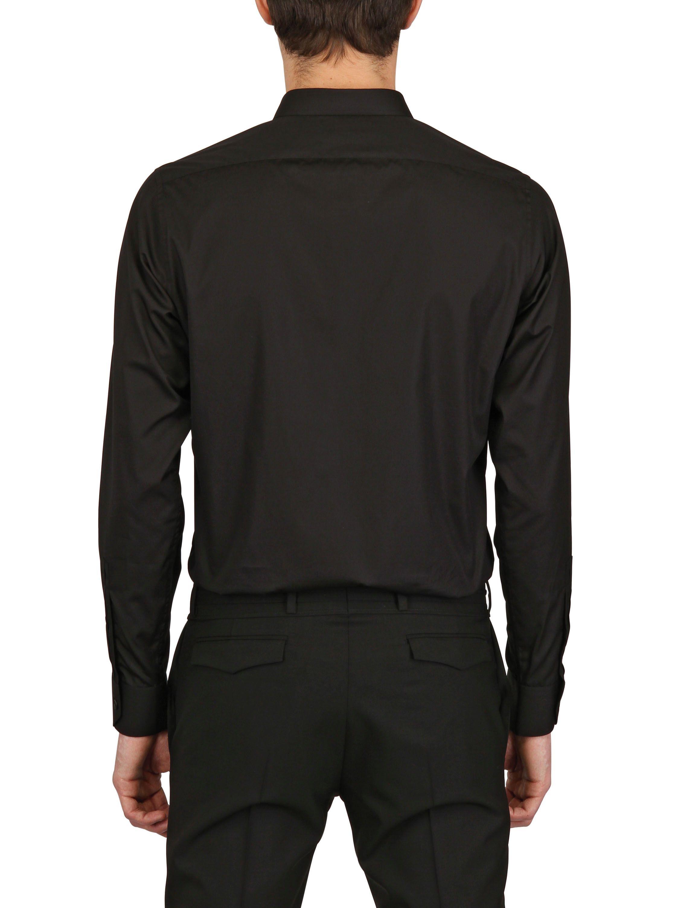 Lyst Saint Laurent Cotton Poplin Button Down Shirt In