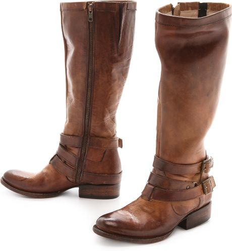 freebird by steven wrap boots cognac in brown