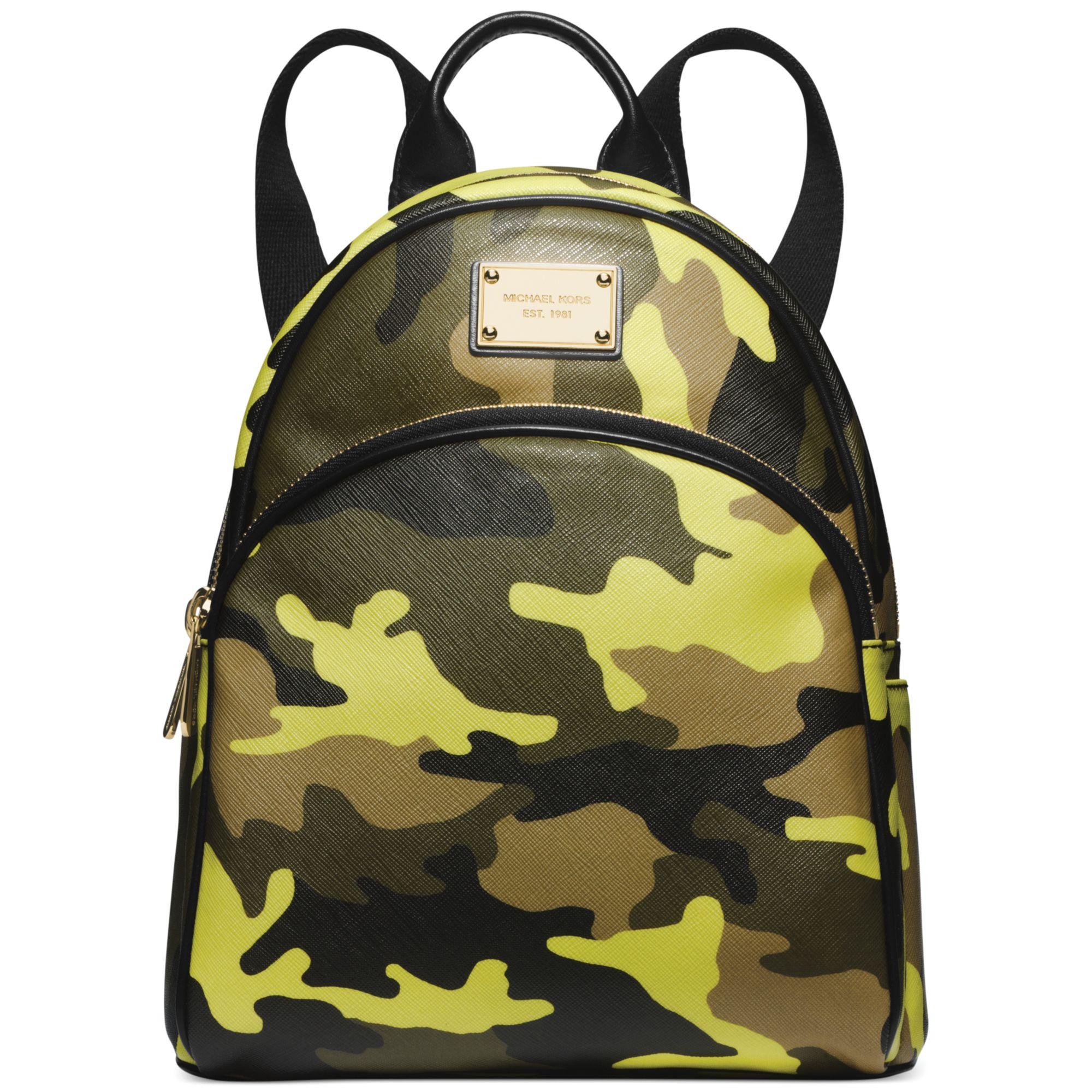 f7d84ddc7094 Lyst - Michael Kors Michael Small Camo Backpack in Green