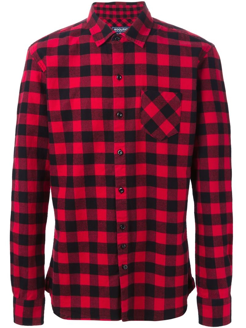 Woolrich Checked Shirt in Red for Men | Lyst