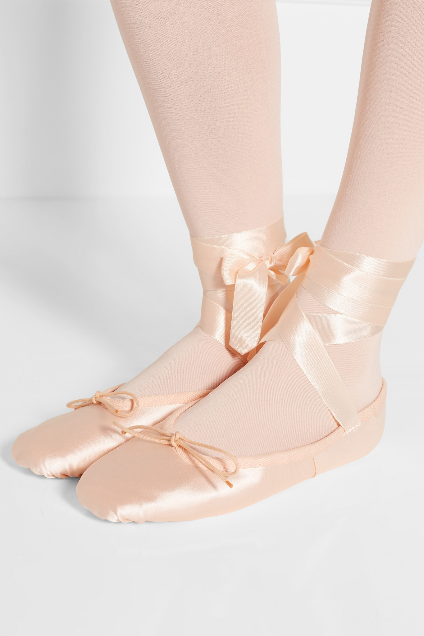e5ddaa6f76e6 Lyst - Ballet Beautiful Satin Ballet Slippers in Pink