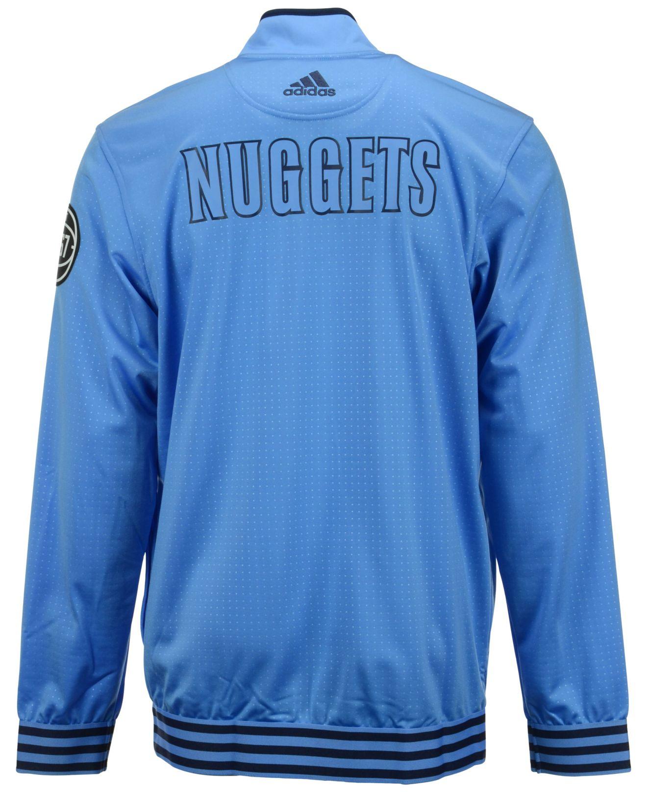 Denver Nuggets Jacket: Adidas Originals Men's Denver Nuggets On Court Warm Up
