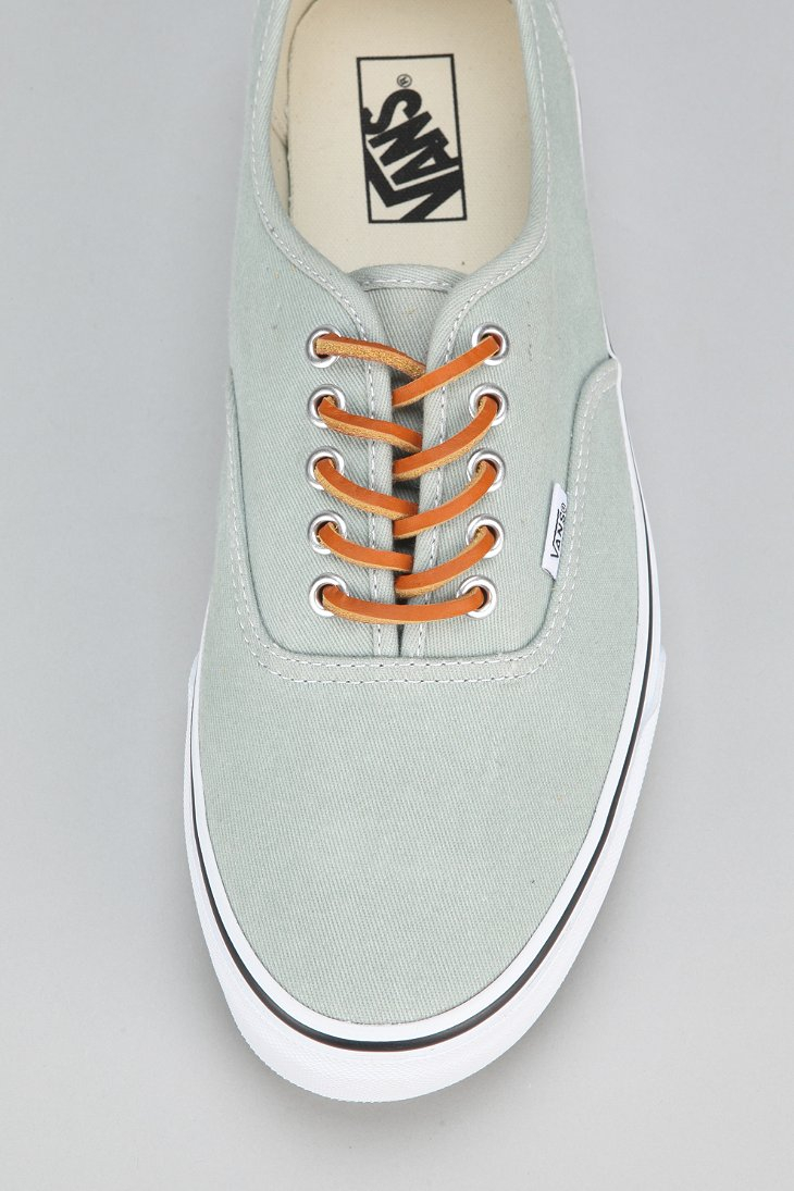 Lyst - Vans Authentic Brushed Twill Mens Sneaker in Green for Men 0e4c17ad4ffd