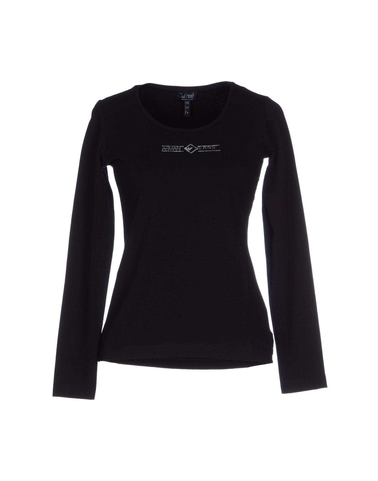 Lyst armani jeans t shirt in black for Black armani t shirt