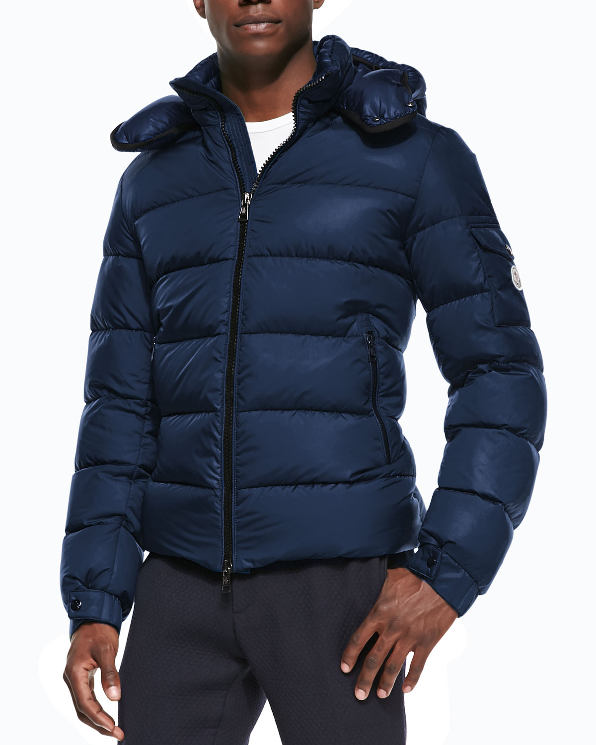 moncler himalaya hooded down jacket black