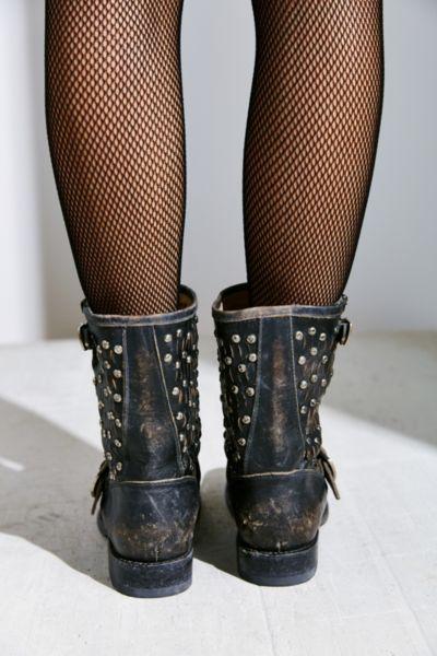 cc96ef4b64de Lyst - Frye Jenna Cut Stud Short Boot in Black