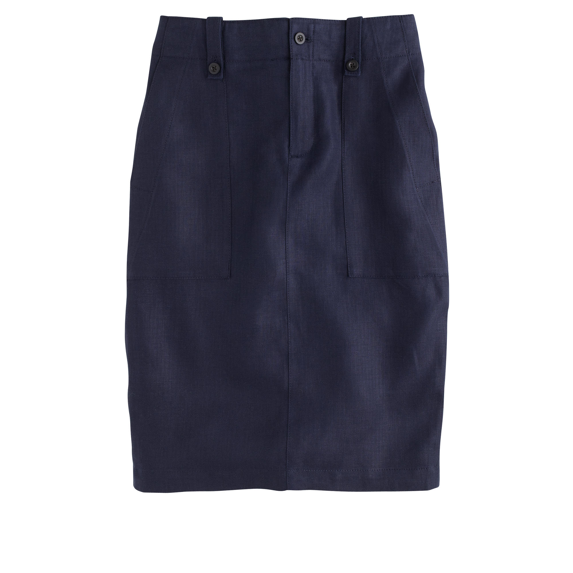 j crew linen cargo pencil skirt in blue lyst