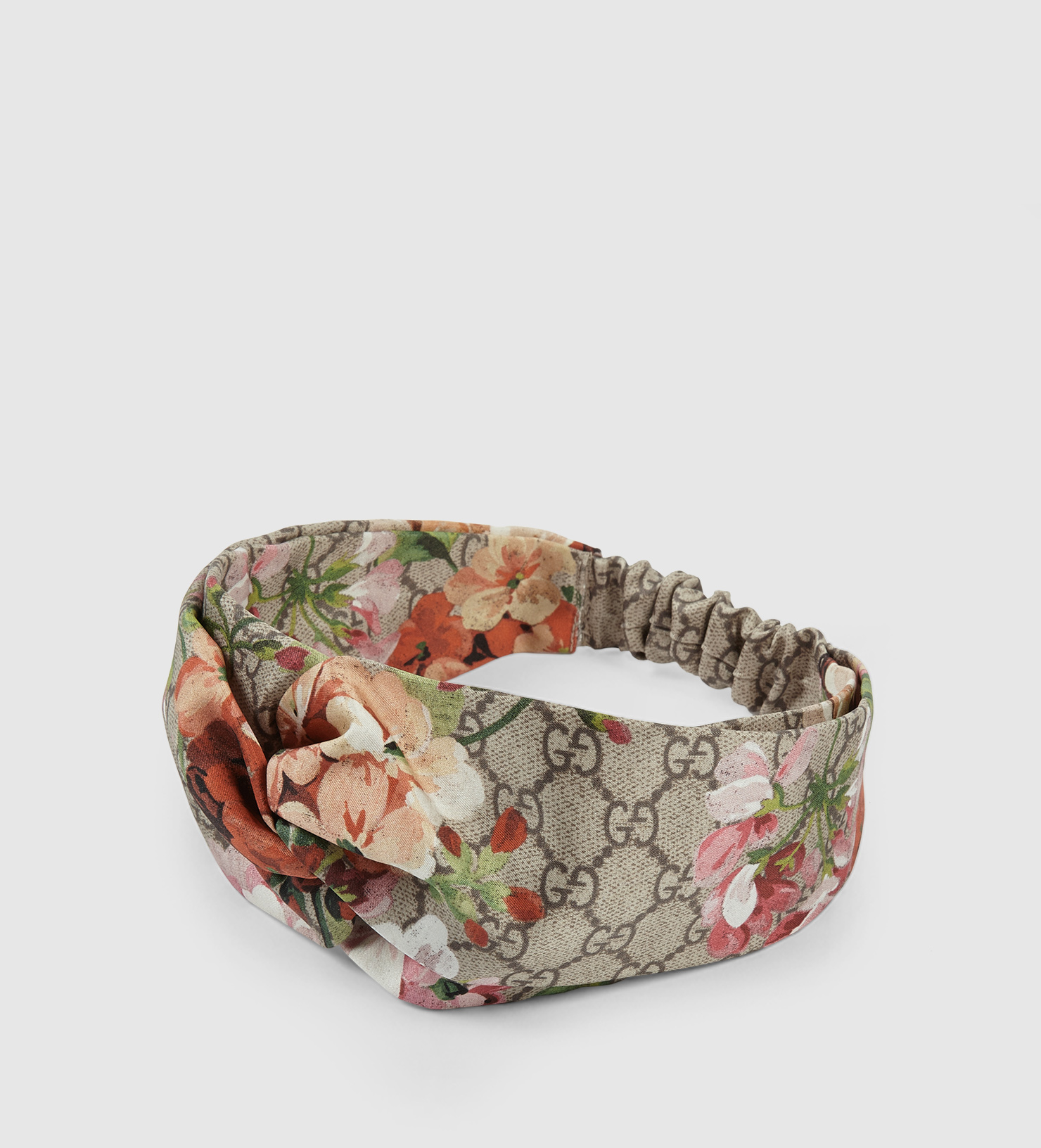 521b6ba97ec Lyst - Gucci Blooms Print Silk Headband in Pink