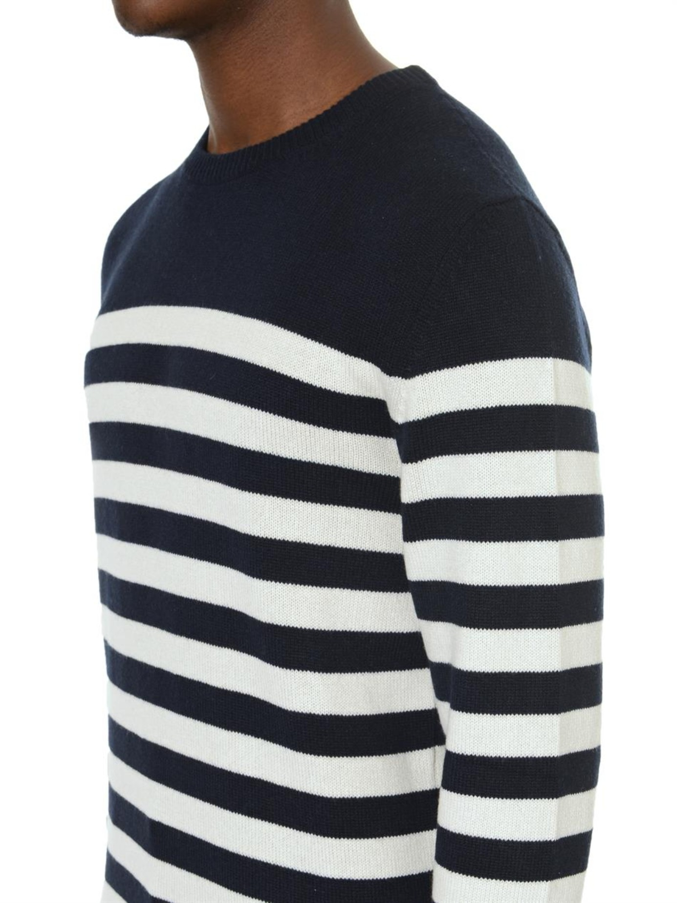 Saint laurent Breton Stripe Sweater in Blue for Men | Lyst
