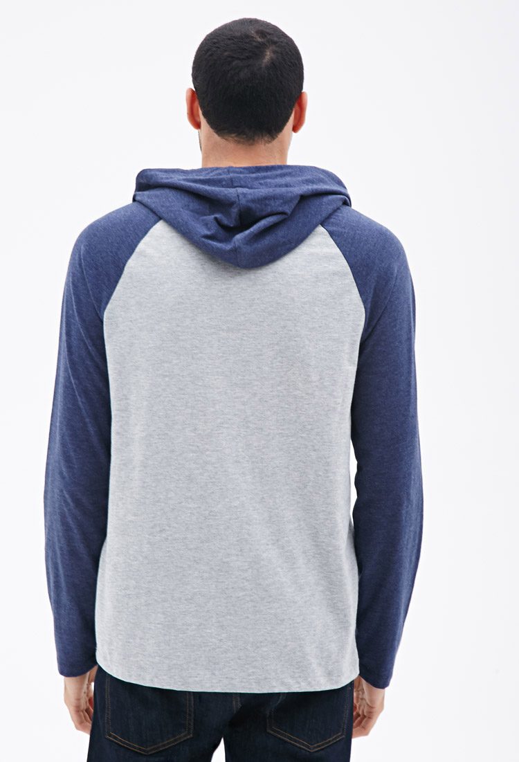 Forever 21 Hooded Baseball Tee You&39ve Been Added To The Waitlist