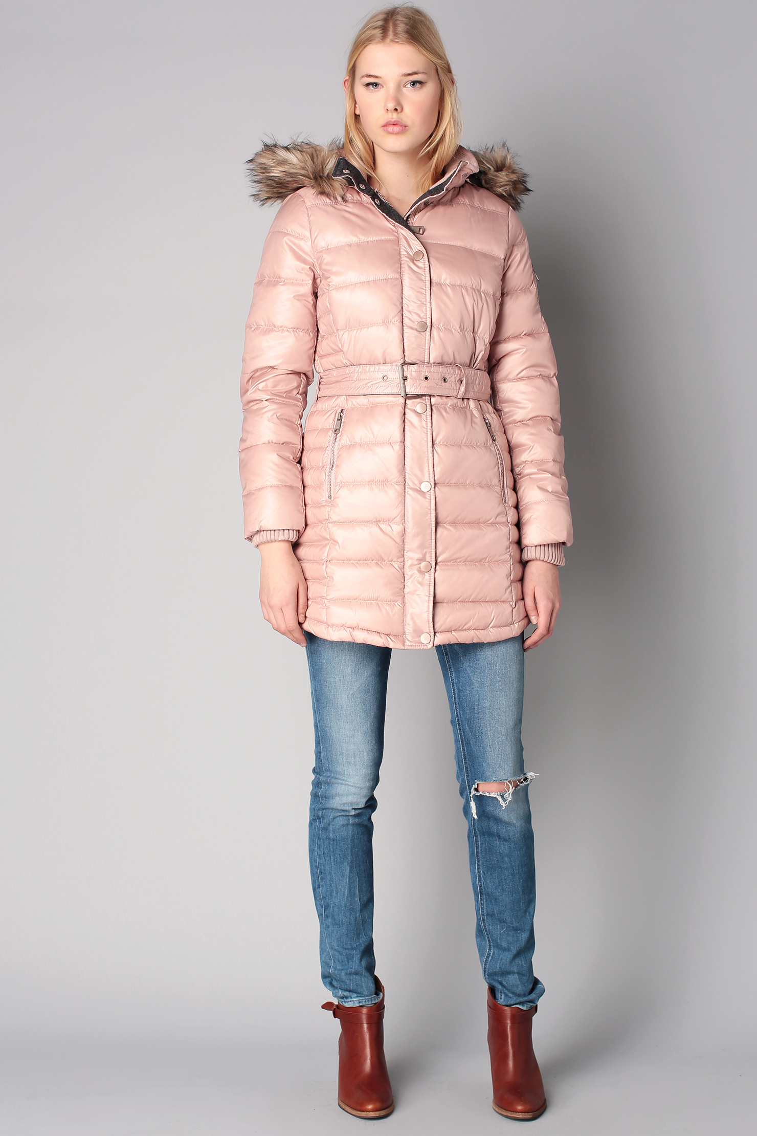 Esprit Quilted Jacket in Pink | Lyst
