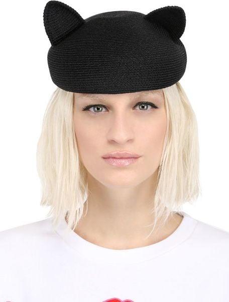 Black Straw Hat Hat in Black Eugenia Kim